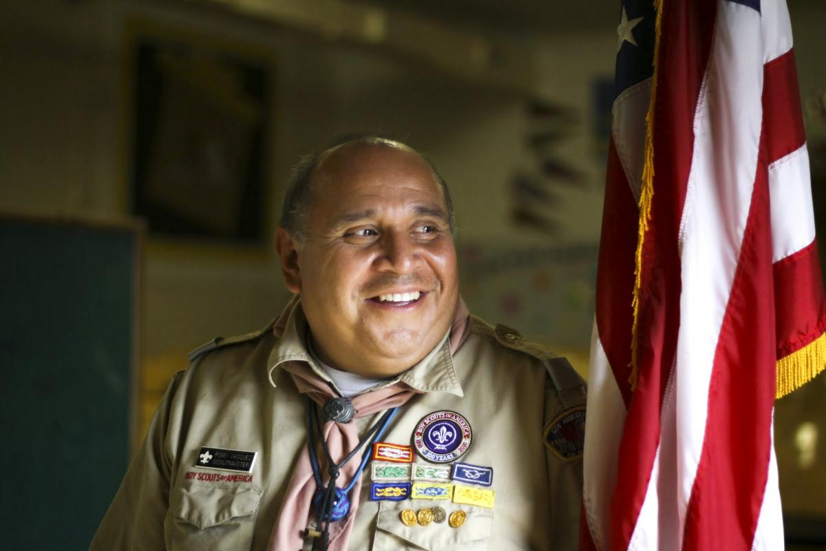 Troop 780 Scoutmaster Romualdo Vasquez Peña III (aka Romy) has been working with Scouts in South Central LA for 27 years.