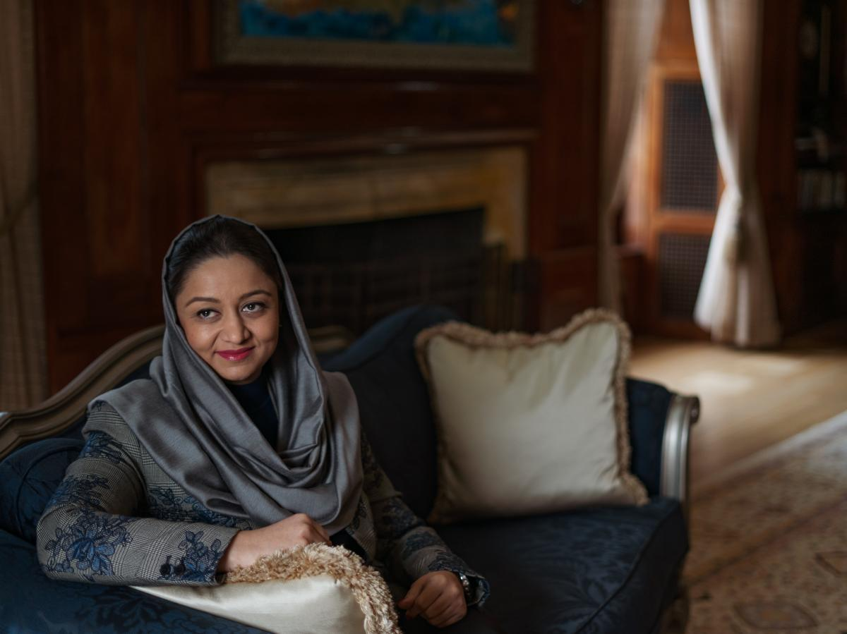 """Afghan Ambassador to the U.S. Roya Rahmani remembers that her country was """"drained of energy"""" when the Taliban was in power."""