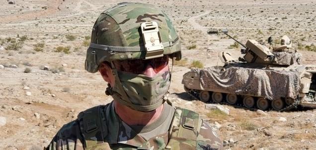 Gen. Jim McConville observes training at Fort Irwin.