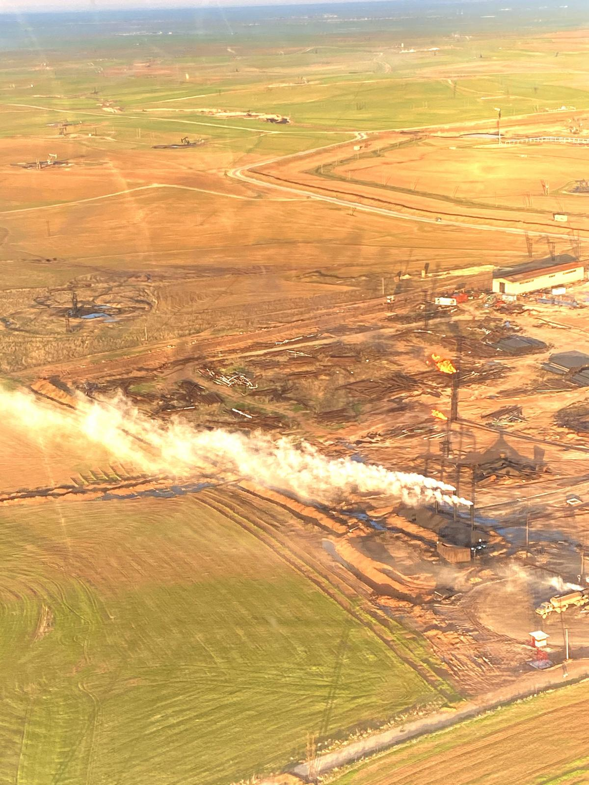 An oil field in northeast Syria.