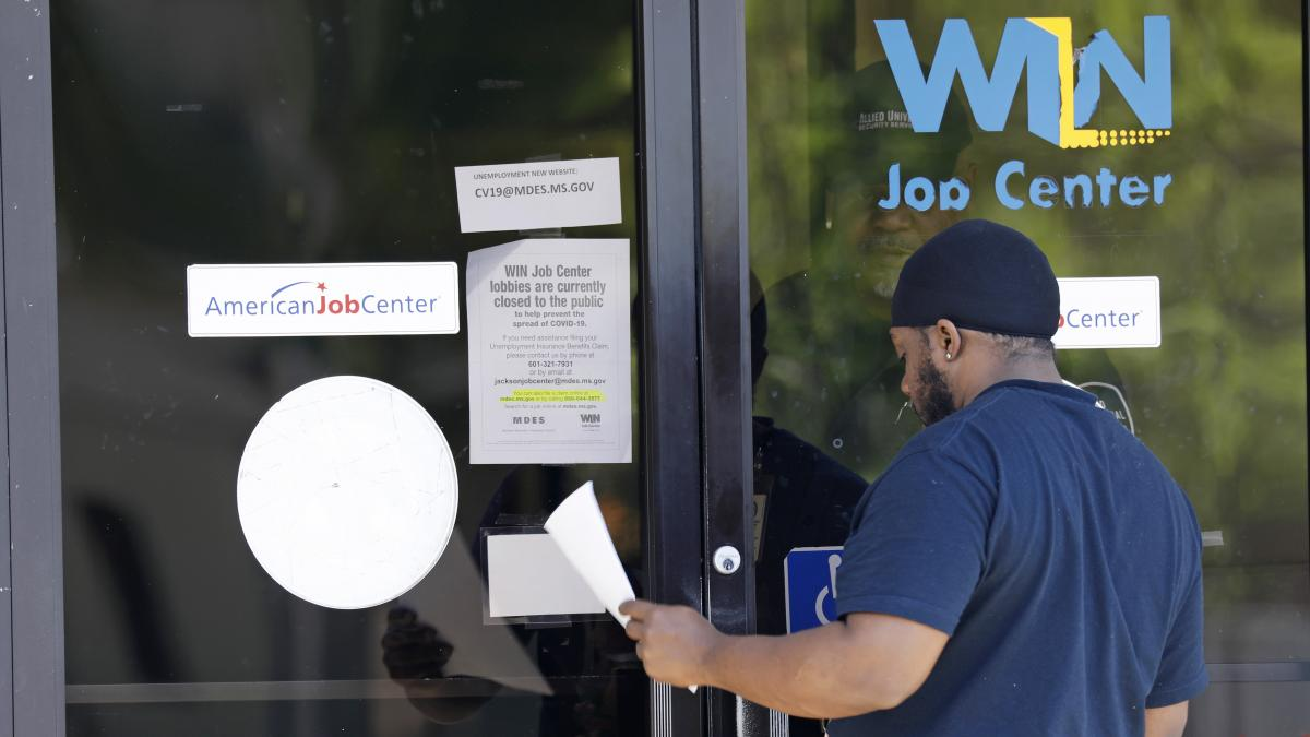 The monthly employment report for March is based on surveys conducted three weeks ago, before the widespread closing of restaurants, retail shops and other businesses began.