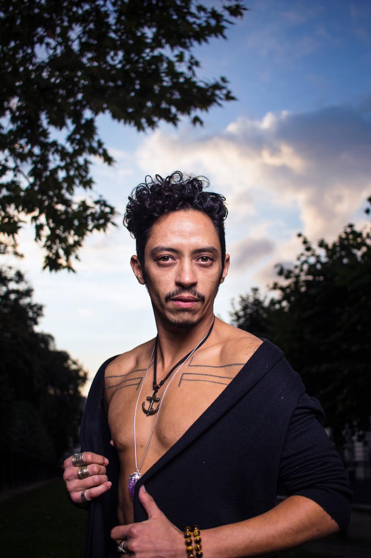Jihan is a French-born, Algerian trans man living in Belgium. He identifies as Two-Spirit because of the strong masculine and feminine energies within himself. He says he hopes Limitless provides younger generations with the representation they need so th