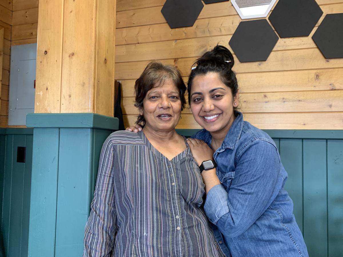 Ripple Desai and her mother Tarla Desai in Panguitch, Utah.