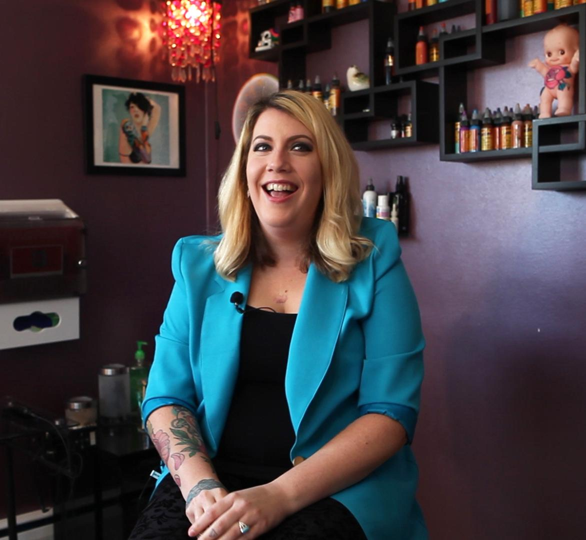 Doll says that tattooing isn't as taboo as it once was. Some post-mastectomy clients bring their whole family to support them.