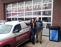 Maggie Harlow and her husband, Brian, are partners in their Signarama franchise in Louisville, Ky.