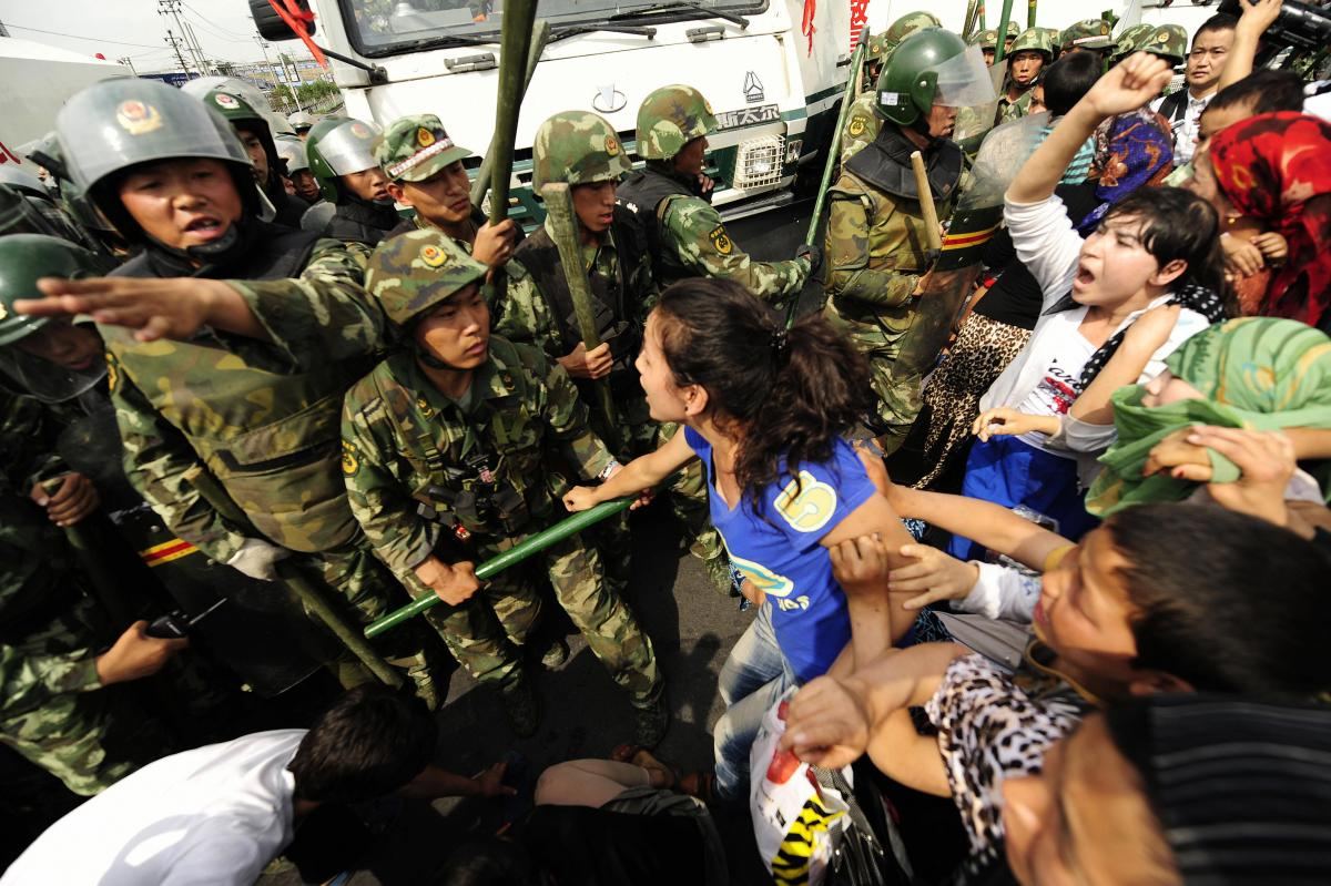 Image result for Uighur crackdown by Chinese military re education camps