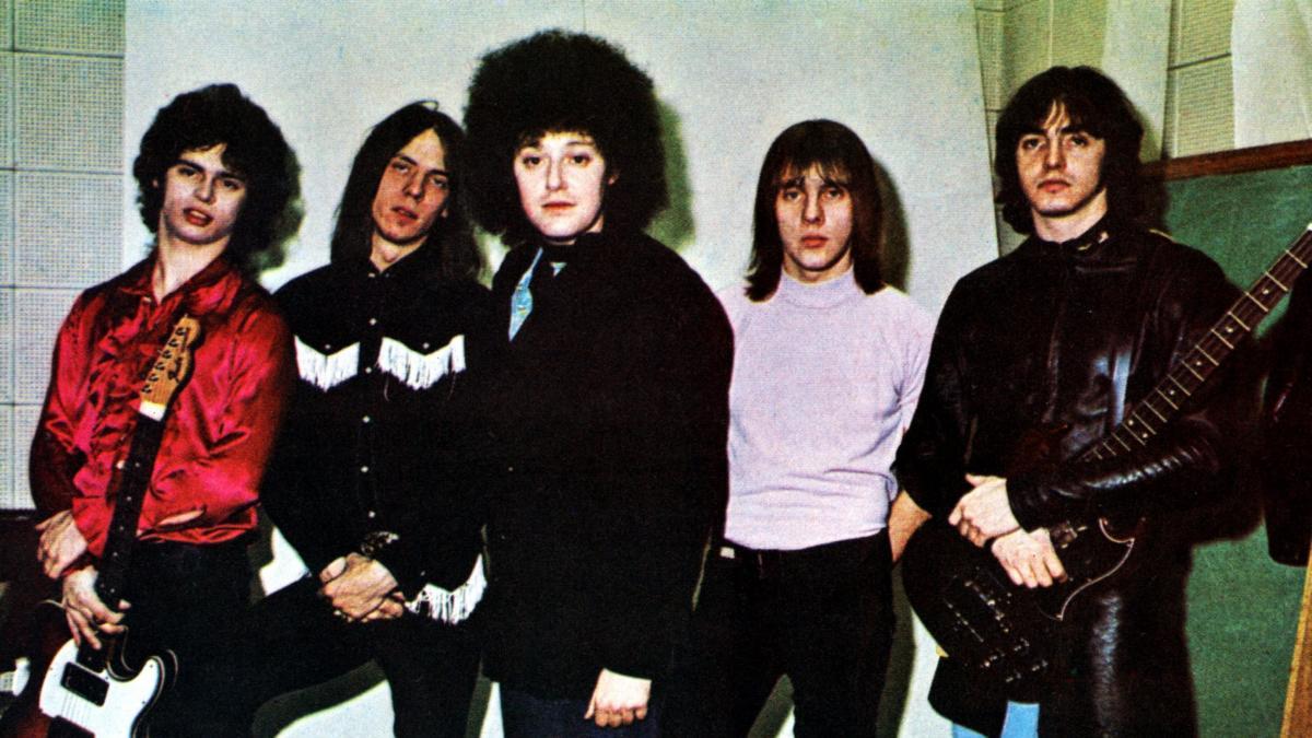 The MC5, circa 1970. From left: Wayne Kramer, Fred Smith, Rob Tyner, Dennis Thompson and Michael Davis.