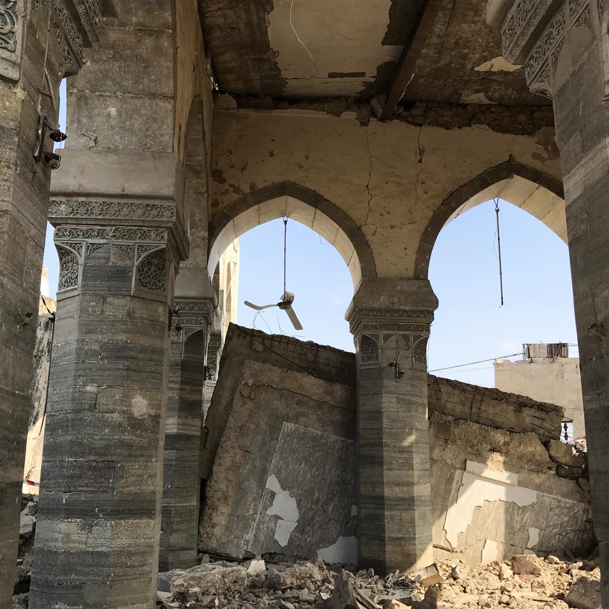 ISIS blew up the al-Nuri Mosque in the battle for Mosul before it was driven out of the area in 2017.