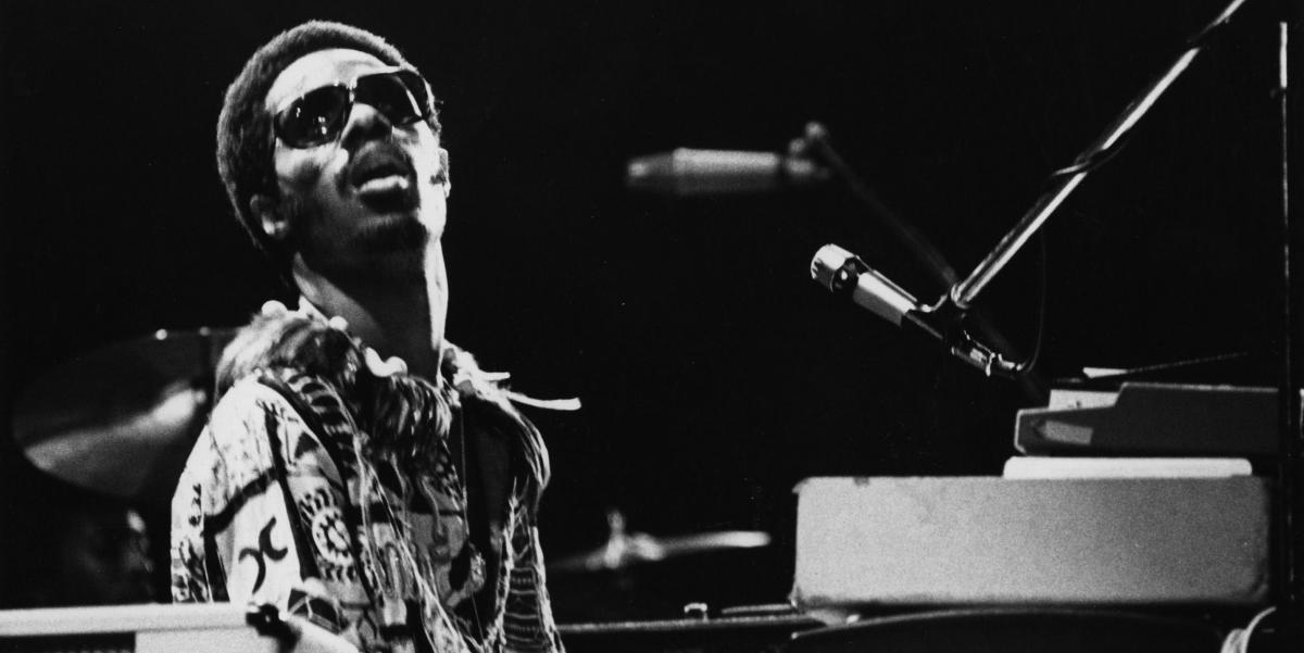 Stevie Wonder in 1975.