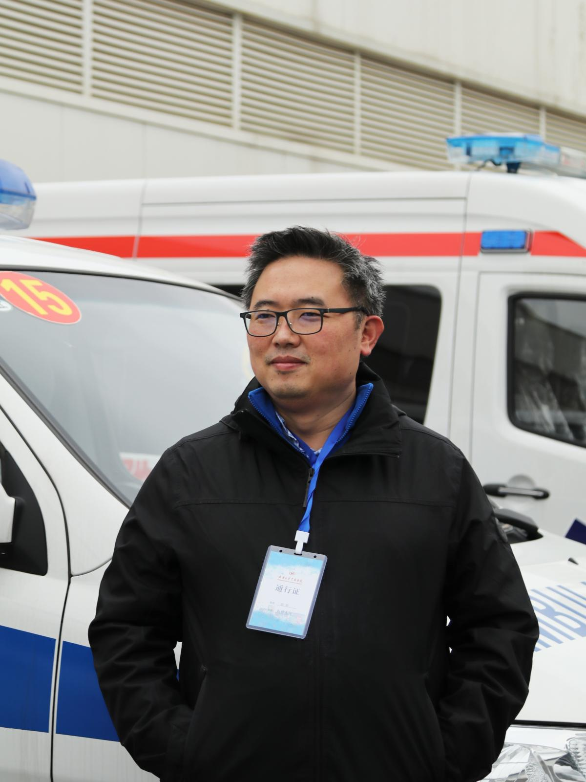Zhao Yan, an emergency care doctor, at Leishenshan Hospital in Wuhan. Zhao says he is still puzzled at the virus's different symptoms among patients in China, Europe and the United States.