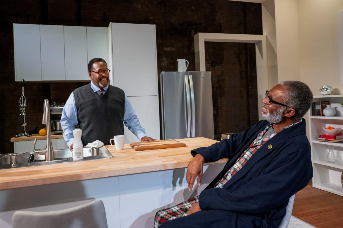 Wendell Pierce (left) and Charlie Robinson star in a new production of James Anthony Taylor's Some Old Black Man.