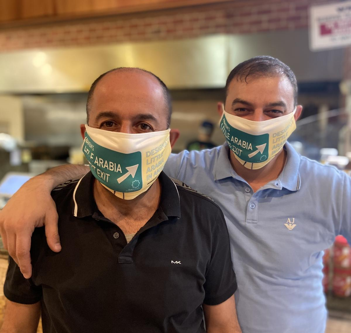 Ehab Elannan (left) the owner of Little Arabia Lebanese Cuisine and Bakery, believes that the designation is crucial to the community.