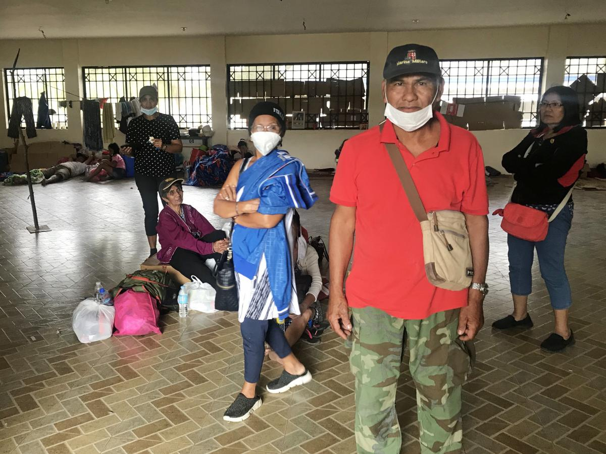 Rufo Gamaro, 66, led a group of more than 100 individuals coming from his barrio, which sits very close to Taal Volcano.