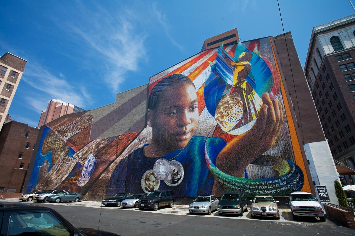 The Legacy mural will be adjusted when construction begins in the neighboring lot. The mural was done in 2006 by Josh Sarantitis and Eric Okdeh.
