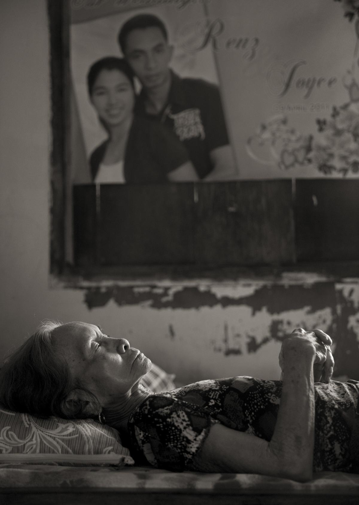 Januaria Galang Garcia takes a midday nap in the village of Mapaniqui in Pampanga, Philippines, on May 19, 2019. Garcia, who was one of the women subjected to sexual slavery during World War II, died on Sept. 3, 2021. She was 9 years old when the Japanese