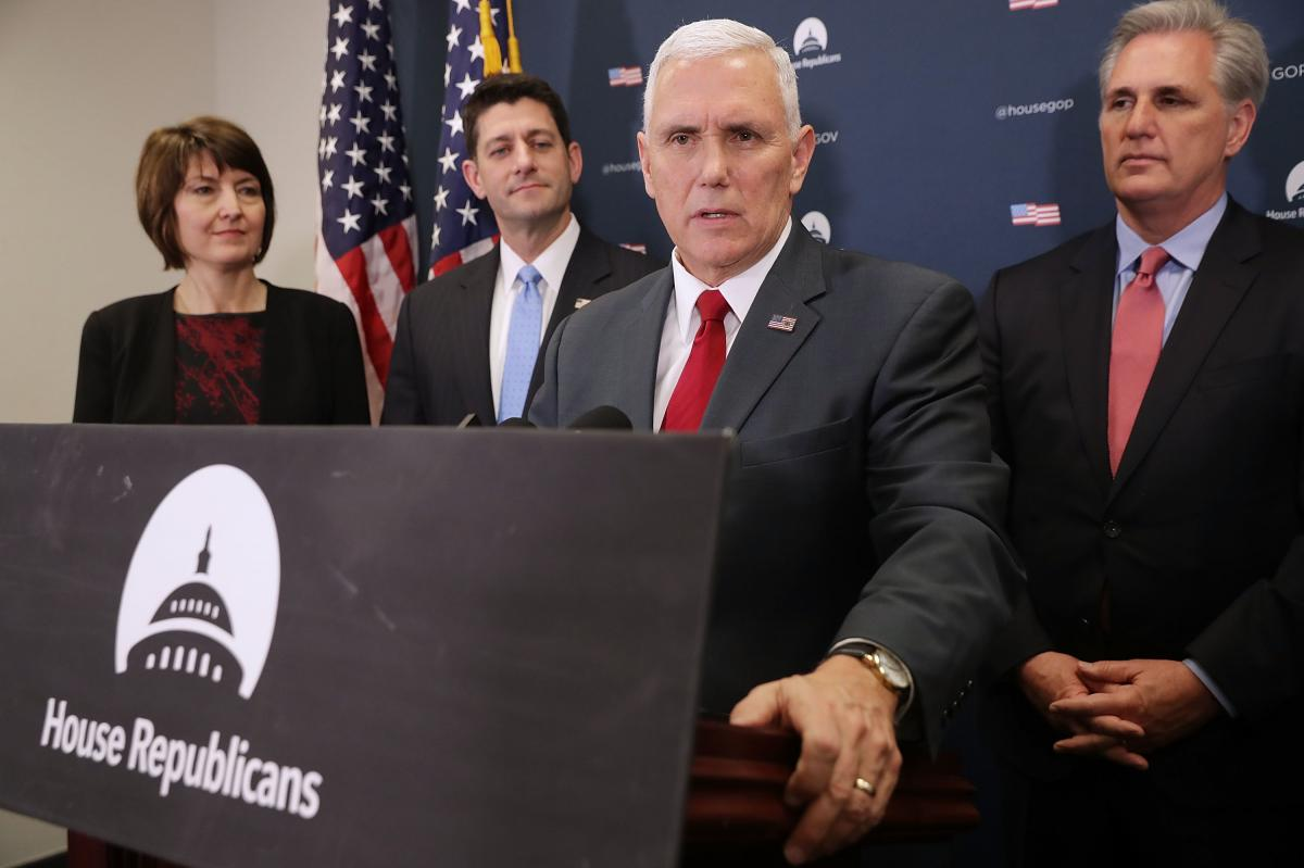 Vice President-elect Mike Pence joined Republican leaders on Wednesday for a news conference. He reinforced Trump's message in undermining confidence in the intelligence community.