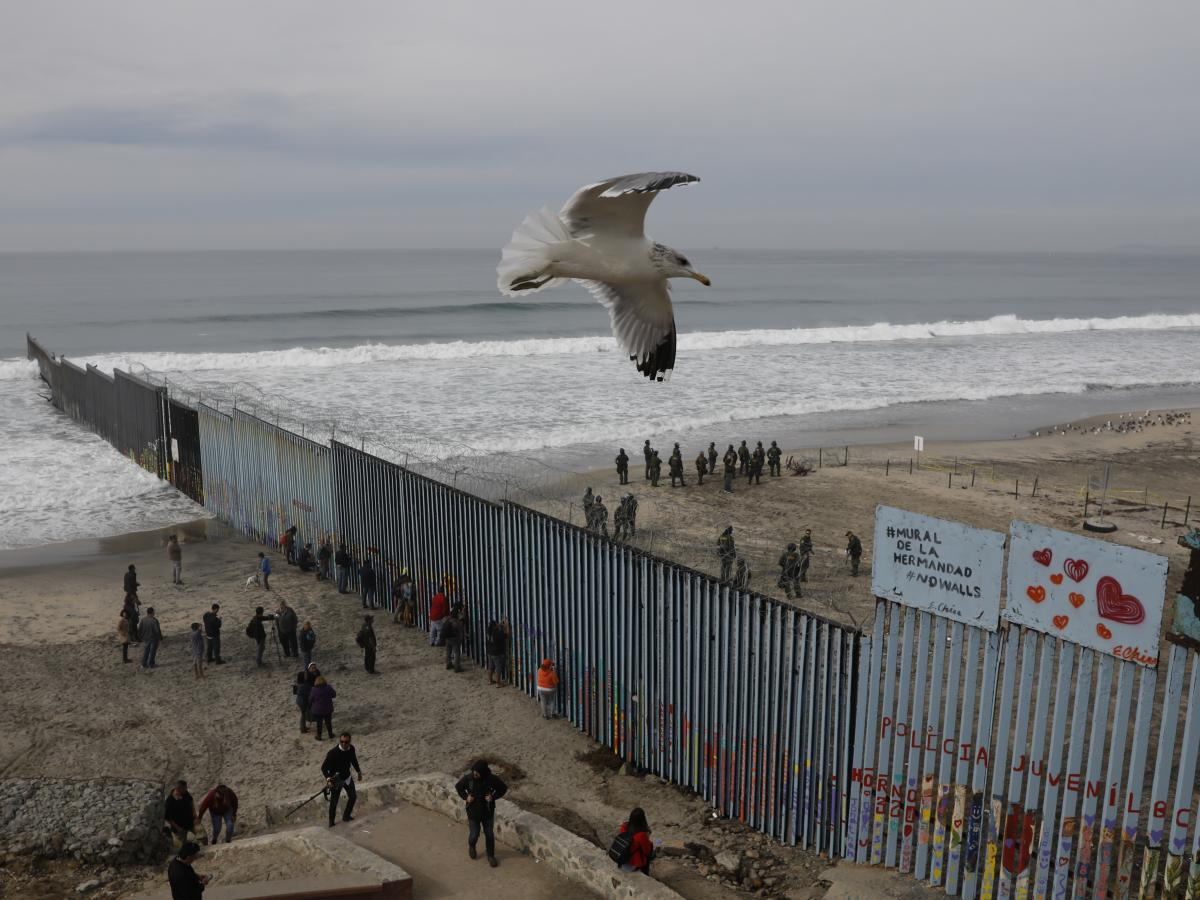 The westernmost edge of the U.S. border wall separates Tijuana from San Diego. Most undocumented immigrants in this country did not enter the U.S. at the Southern border.