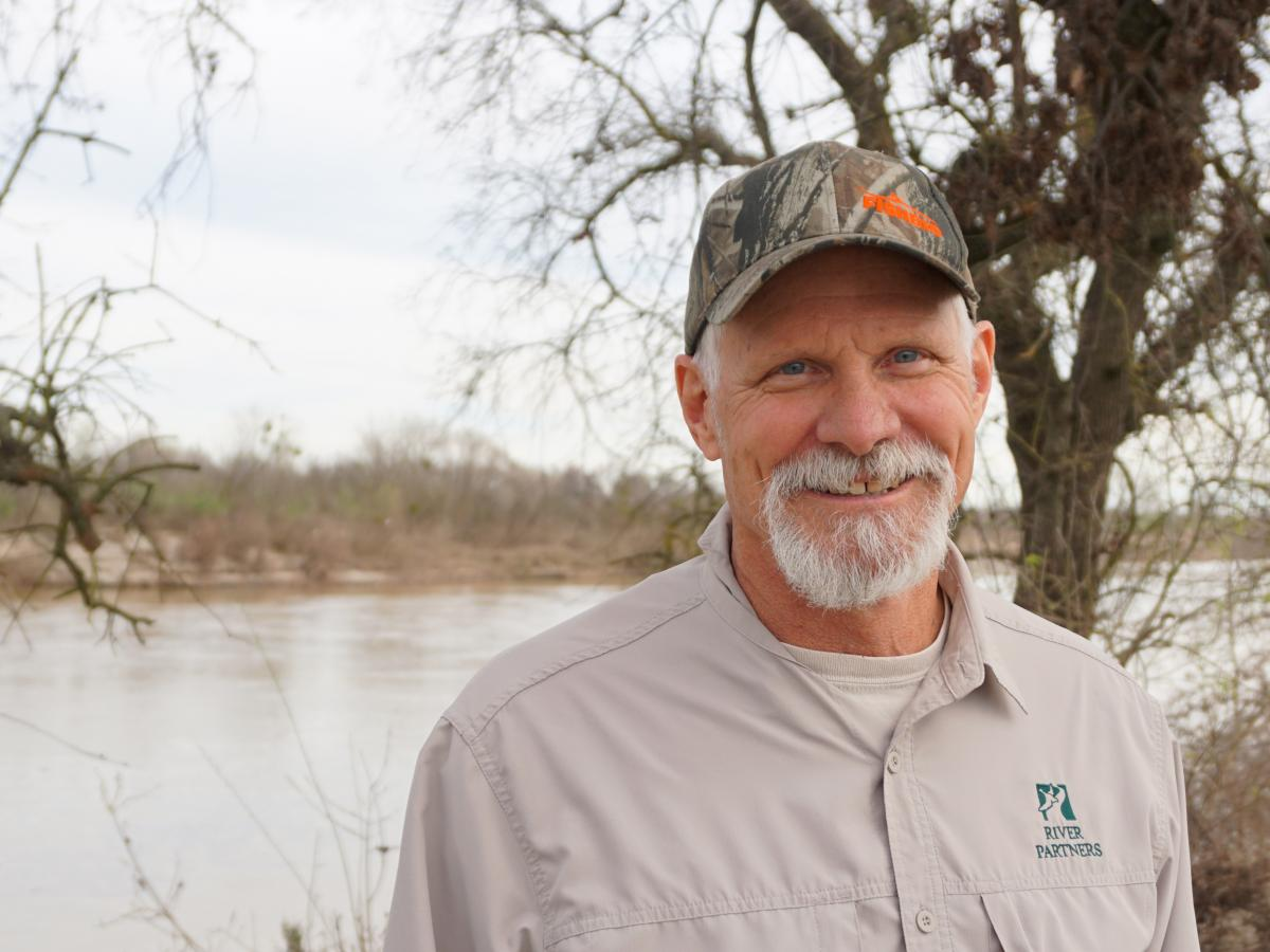 """John Carlon works with River Partners, a nonprofit that does river restoration. Carlon says many of the levees are """"old and outdated."""""""