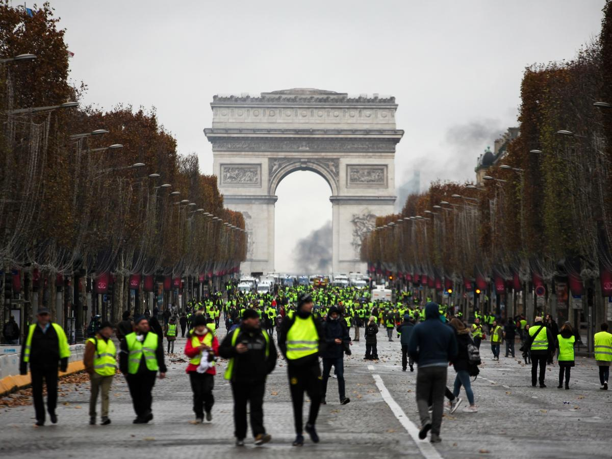 """The """"yellow vest"""" protests began last month. Large demonstrations turned violent in Paris over the weekend."""