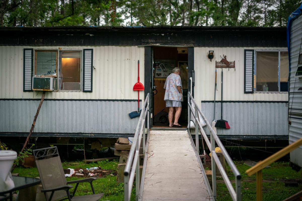 The money Donnie Speight received from FEMA was not enough to cover the cost of repairs to her home after Hurricane Laura. She has lived with a hole in the bedroom ceiling for the better part of a year.