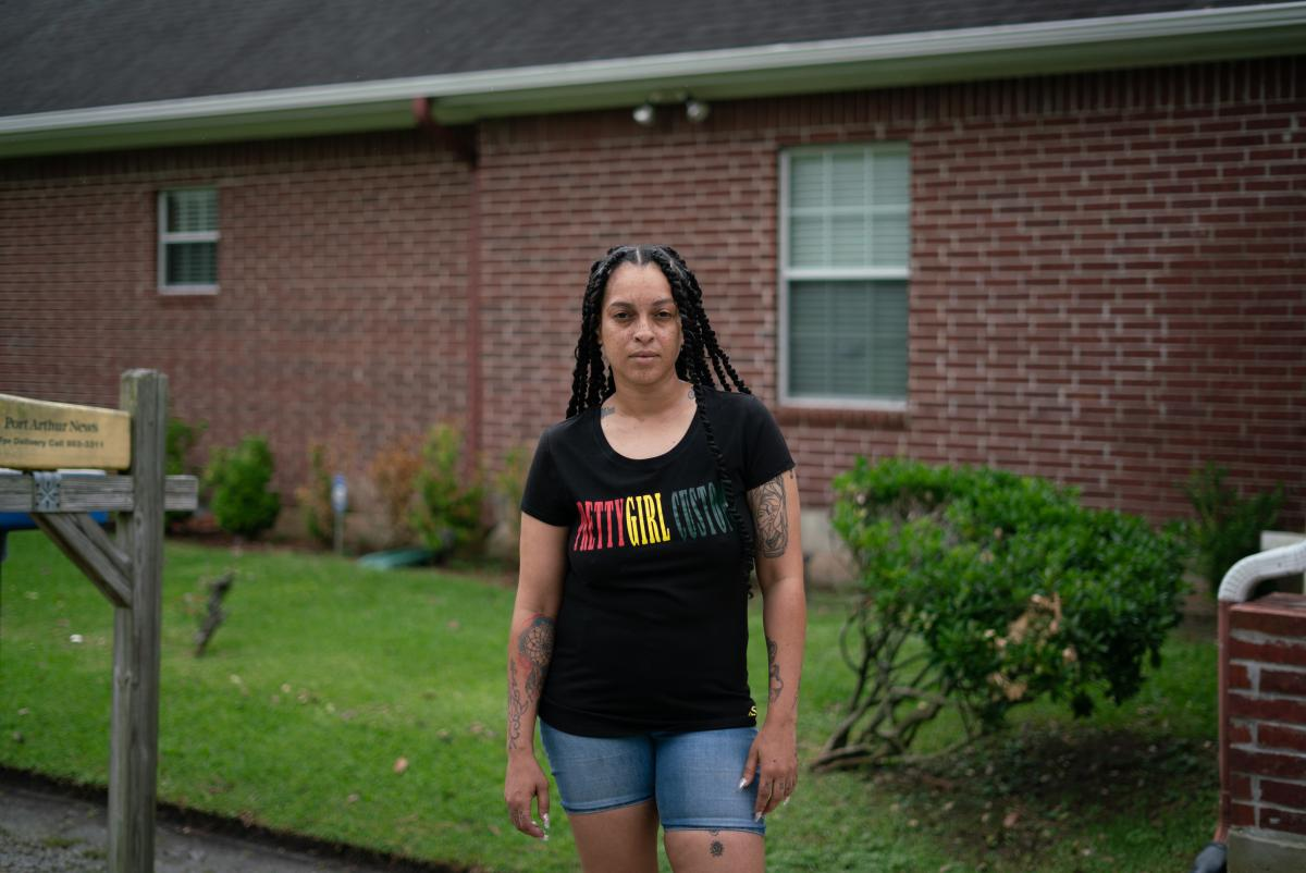 Lesley Watts grew up in Port Arthur and narrowly escaped the flooding from Hurricane Harvey with her grandmother and two daughters. She says many neighbors who had passed down their homes for generations were forced to abandon them because they couldn't a
