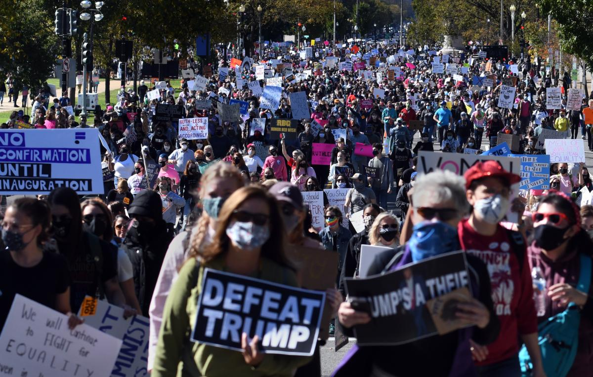 The Women's March takes place in Washington D.C.