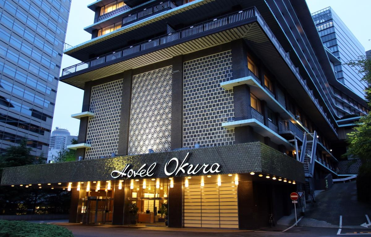 The entrance to the main building of Japan's iconic Hotel Okura in Tokyo. An outcry from architectural preservationists couldn't stop the demolition to make way for a high-rise tower.