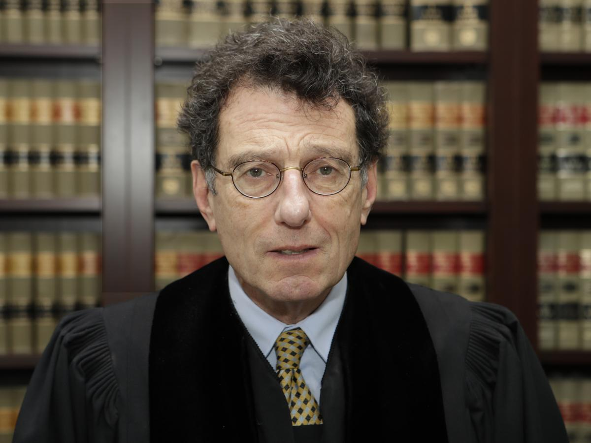 The man overseeing the multidistrict litigation: U.S. District Judge Dan Polster, seen in this undated photo in his Cleveland office.