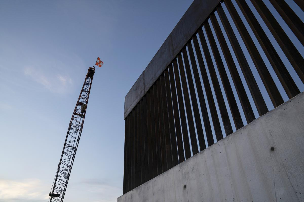 A new section of the border wall is seen in November 2019 south of Donna, Texas. Trump's 576-mile border wall is expected to cost nearly $20 million per mile, which is more expensive than any other wall under construction in the world.