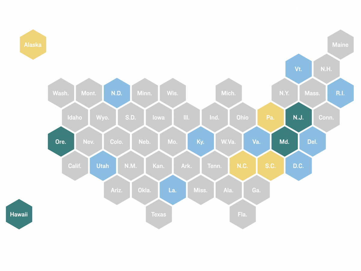 States that have made their contact tracing data public are green.