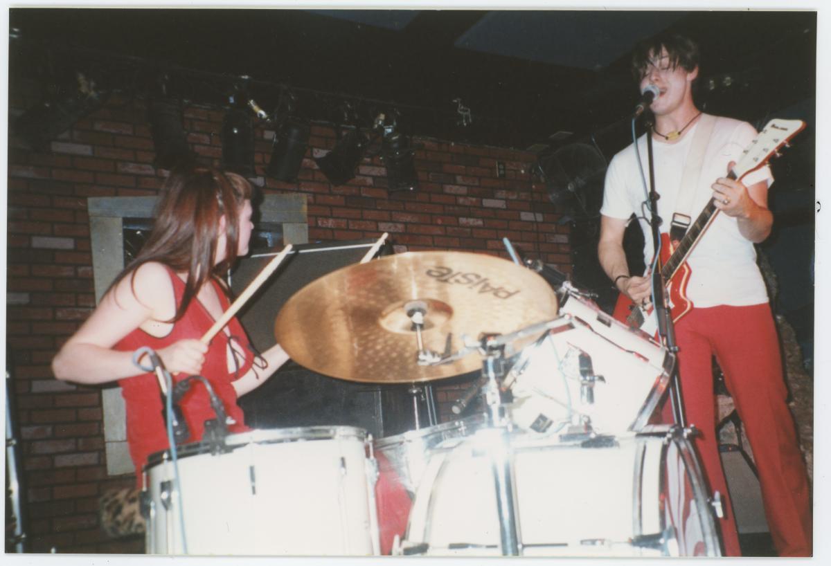 The White Stripes live, circa 2000.