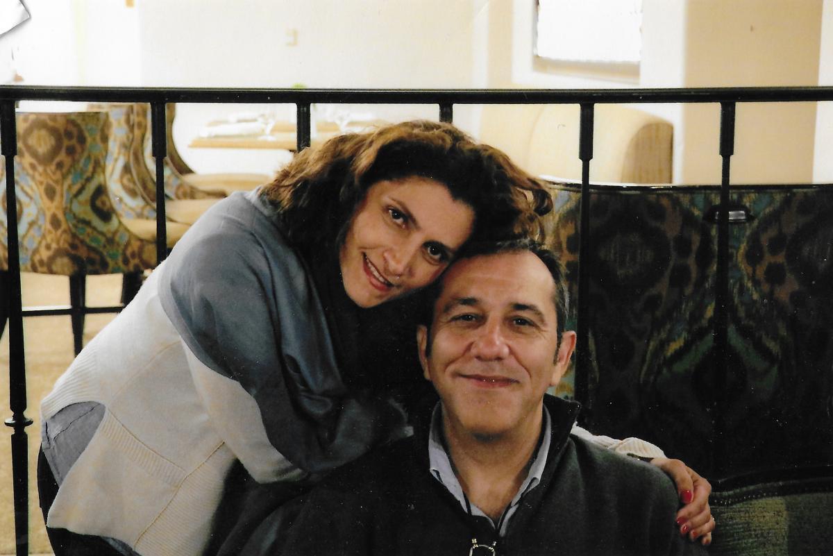 Bahareh and Emad Shargi in California in June 2017.
