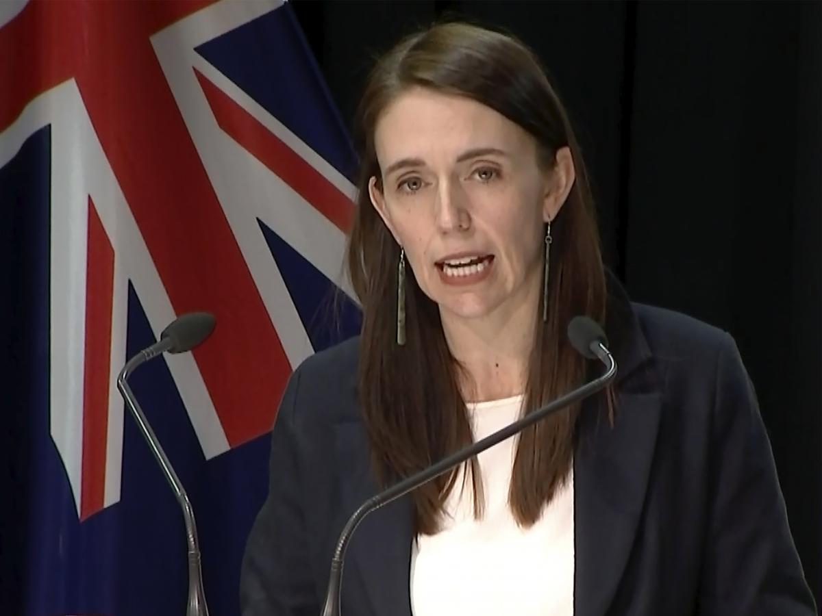 In this image made from video, New Zealand Prime Minister Jacinda Ardern speaks about a stabbing attack during a press conference, Friday, Sept. 3, 2021, in Wellington, New Zealand. New Zealand authorities say they shot and killed a violent extremist afte