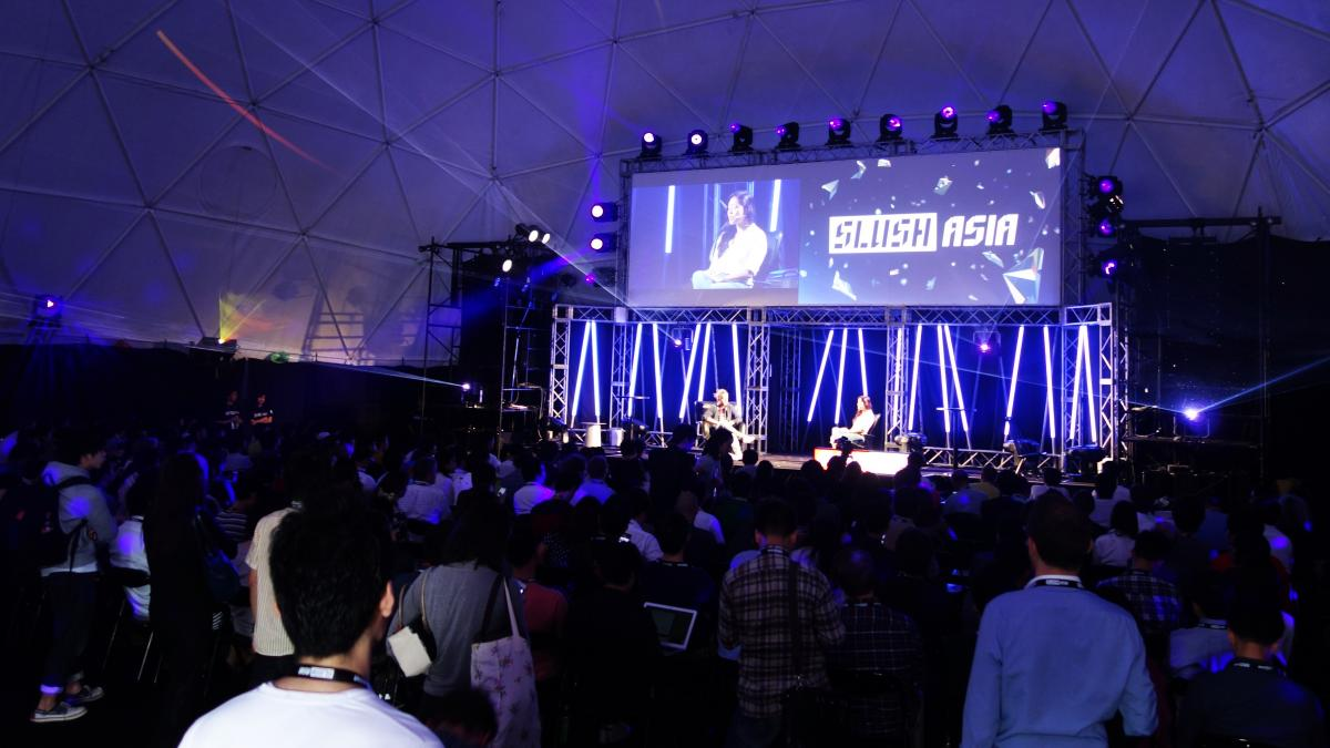 At Slush Asia, a new tech festival held in Tokyo in late April, the scene and the energy resembled a small-scale South by Southwest Interactive.