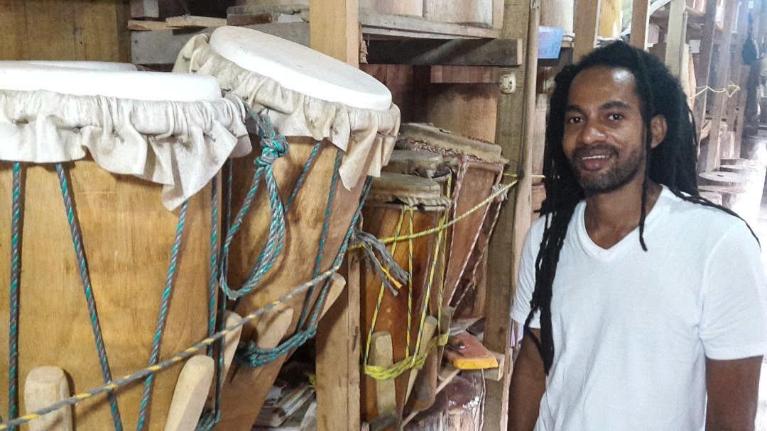 Harold Tenorio is the director of a folk music school in Tumaco, Colombia.