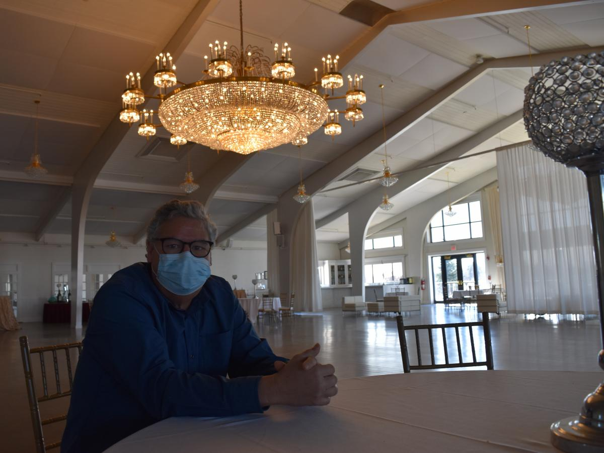 Paul DeLorenzo is general manager at Danversport, an event venue featuring a 10,000-square-foot ballroom with a 900-person capacity. He thought 2020 was going to be their best year ever until the pandemic forced him to close. DeLorenzo is hopeful capacity