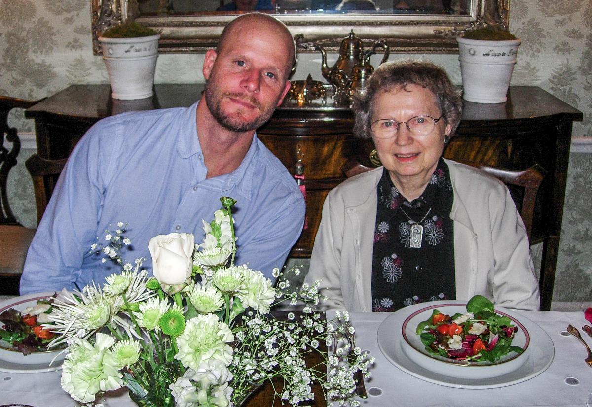 David Gilkey and his mother Alyda.