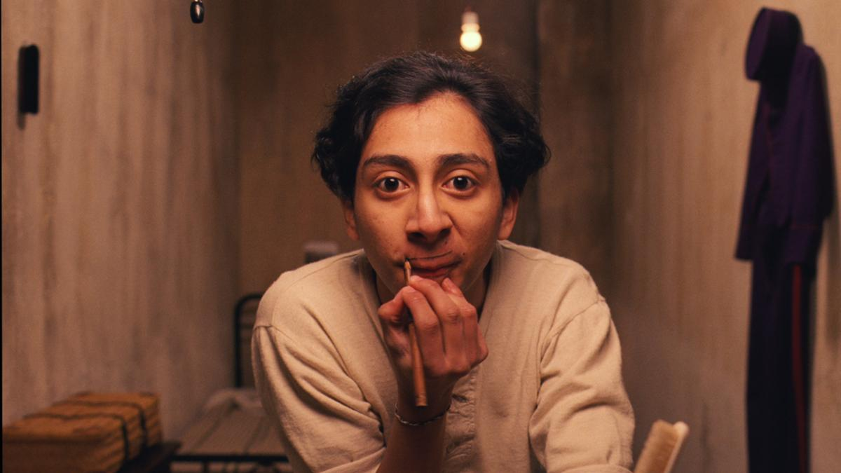 Actor Tony Revolori, who plays Zero Moustafa in The Grand Budapest Hotel, paints on a mustache. The movie was full of fake mustaches — but most were made of human hair and silk, rather than paint.