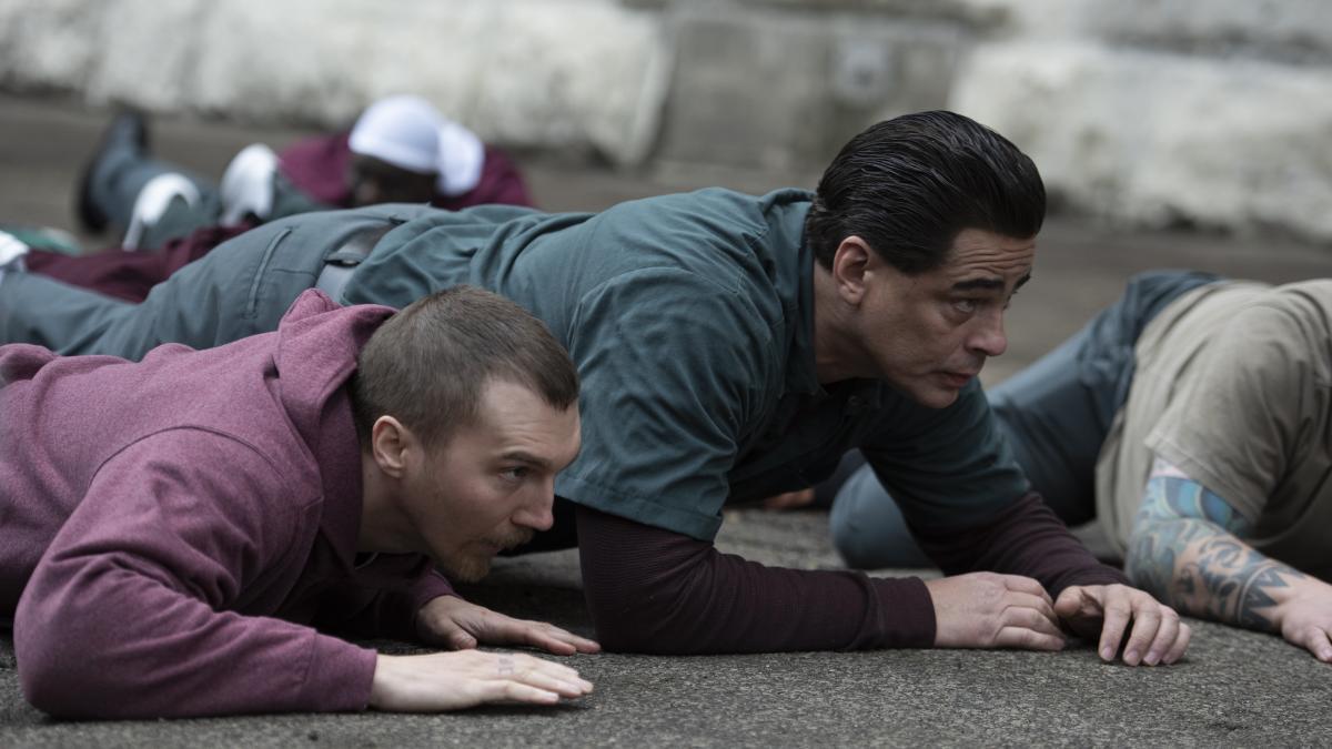 Paul Dano and Benicio del Toro play inmates David Sweat and Richard Matt in Escape at Dannemora.
