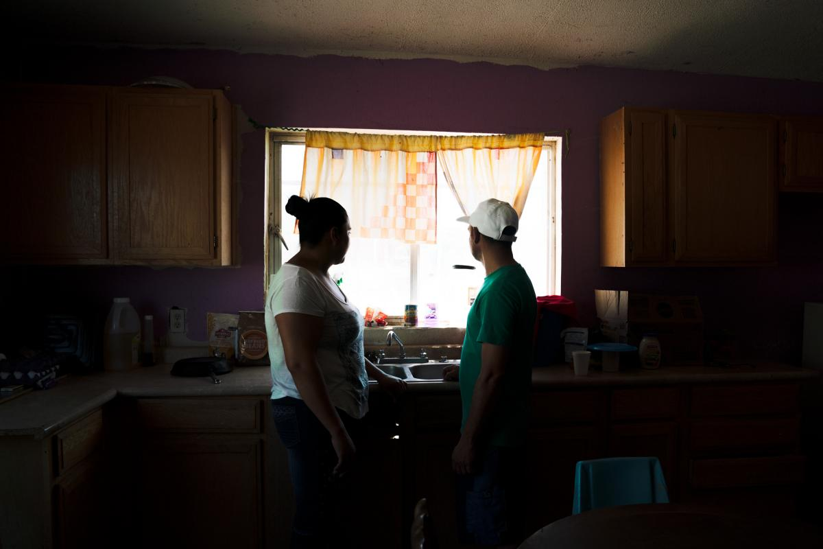 Tania and her husband, Joseph, initially had to stay just across the border in Mexico under a Trump administration program that requires thousands of people to wait in northern Mexico cities while their immigration cases are heard in U.S. courts.