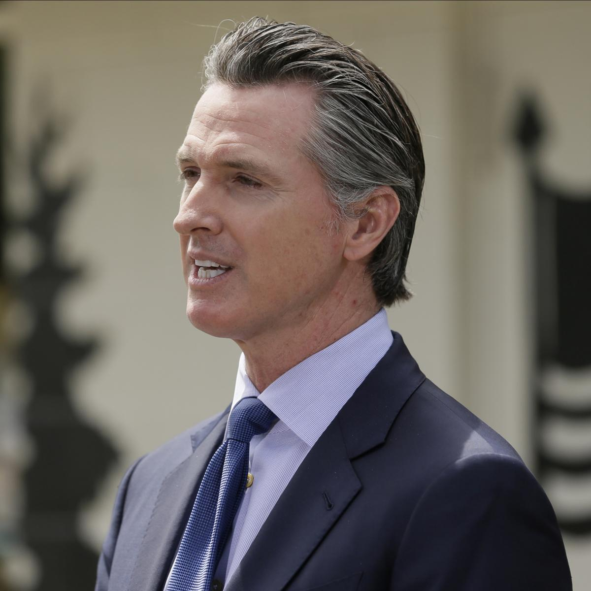 California Gov. Gavin Newsom says places of worship can resume in-person services pending county approval. Attendance will be limited to fewer than 100 or 25% of the building's capacity, whichever is lower.