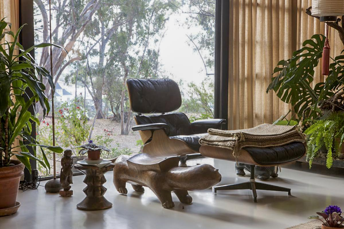 Eames Lounge Chair Living Room charles and ray eames made life betterdesign; their home