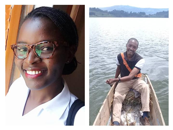 Maria Nakalanda (right), Edward Arineitwe and Charles Batte are Ugandan health care workers who have faced difficulties in getting to and from work after their country's transportation lockdown.