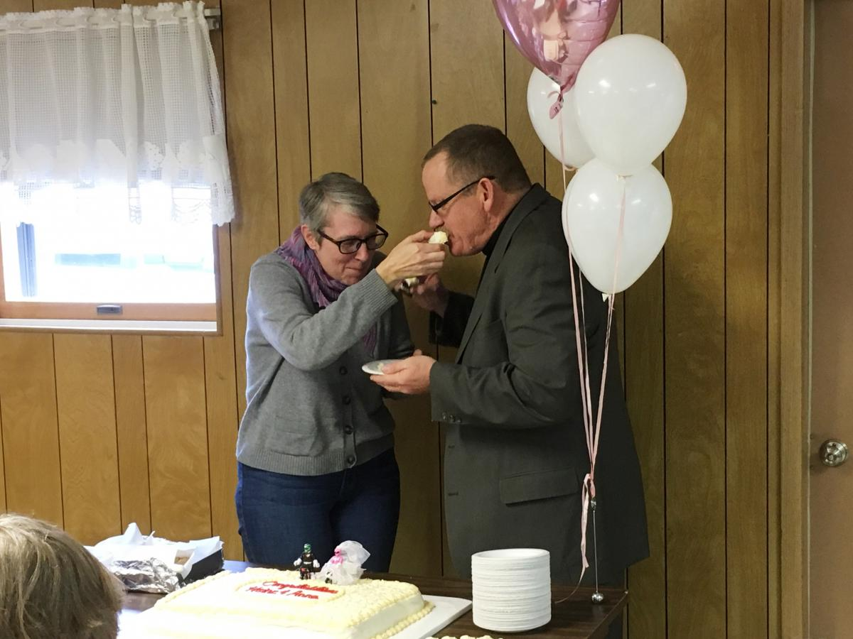Anna Fiehler and Heinz Raidel met on Match.com and lived about two hours away from each other in Ohio. They married in early 2017.