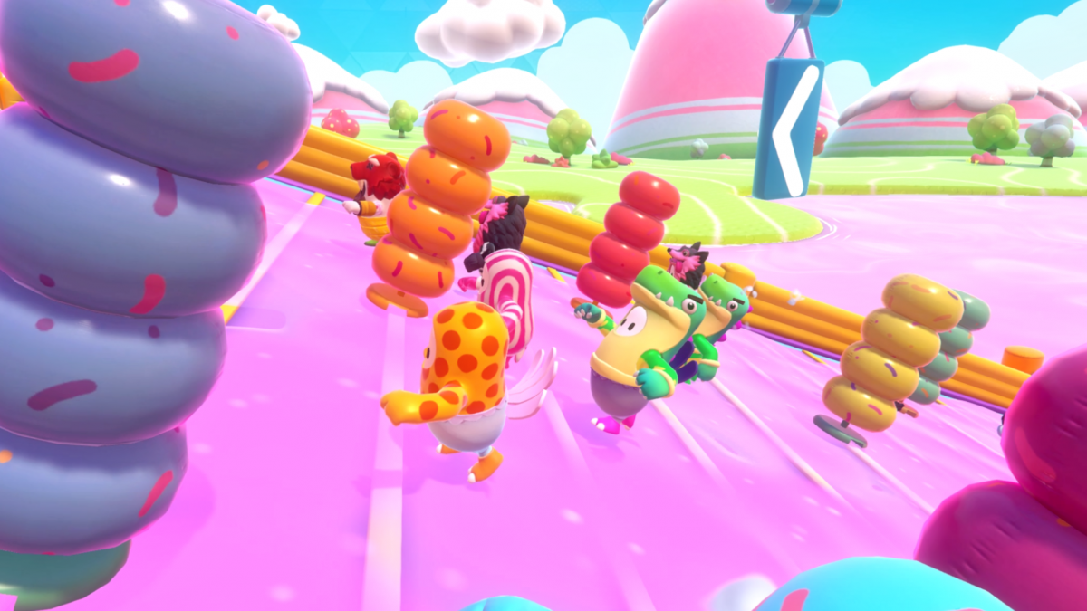 The fun of Fall Guys comes in watching its little jelly bean-shaped characters getting whacked around goofy obstacle courses.