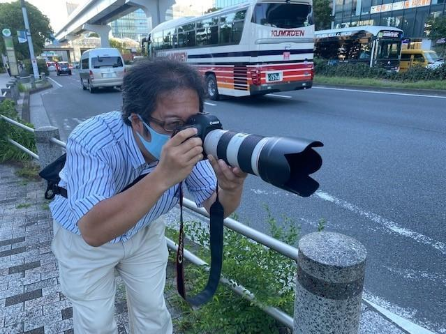 Ryotaro Mori says he's been bus spotting for 30 years, since he was 12 years old. When he's not working as a commercial photographer, he snaps the buses using a camera with a long zoom lens.