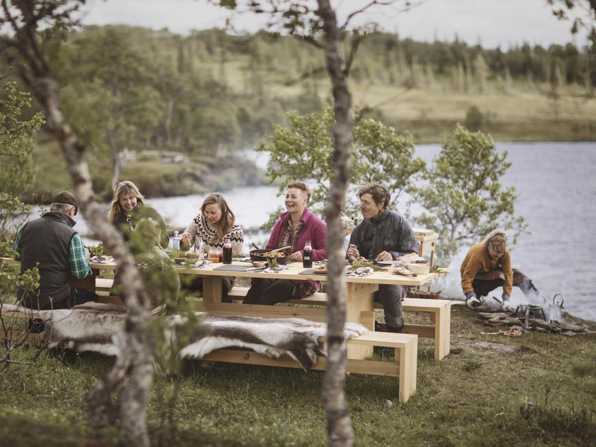 A Swedish government program called the Edible Country recruited Michelin-starred chefs to create recipes that use ingredients that can be foraged from the areas around 13 picnic tables scattered across the countryside. Diners book a table, show up and hu