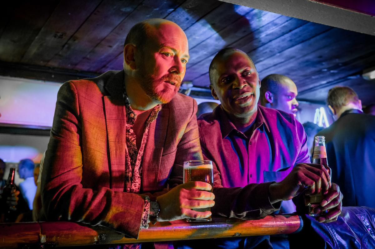 The new show from England, Cucumber, stars Vincent Franklin (left) as Henry and Cyril Nri as Lance. It premieres on Logo TV on April 13.