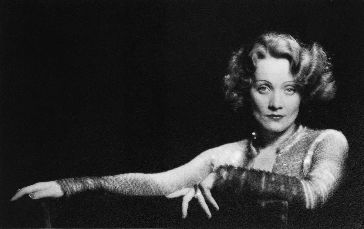 Marlene Dietrich in a publicity photo for the film Dishonored (1931), in which she plays an Austrian spy.