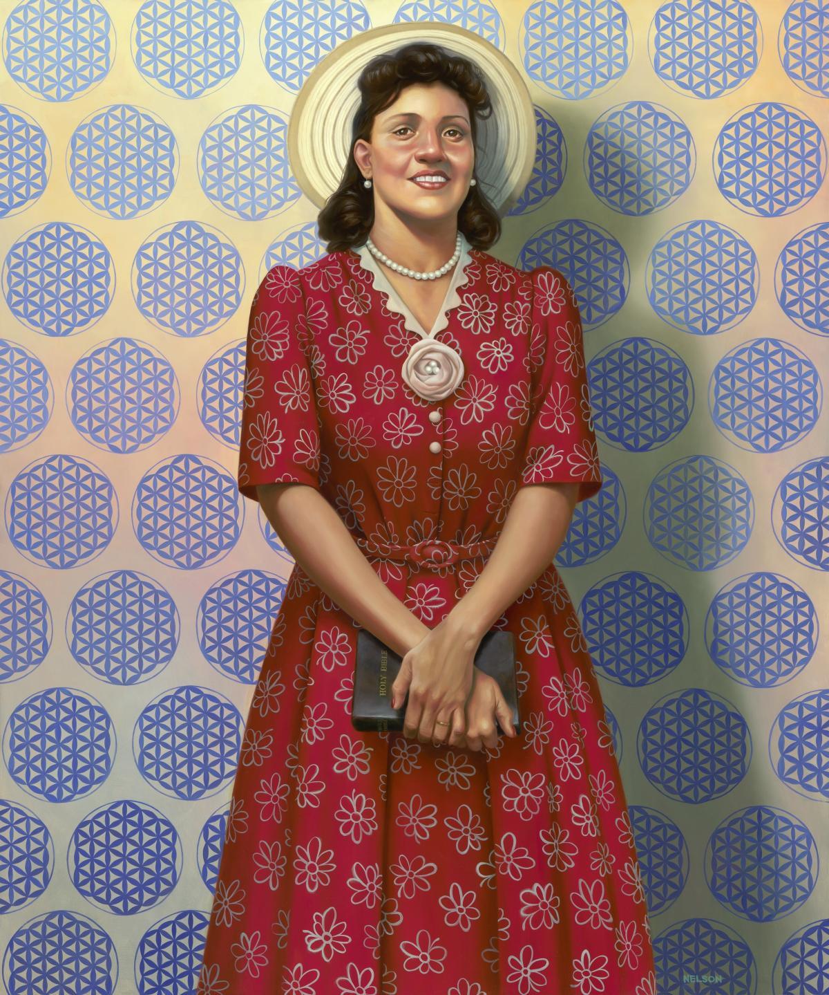 The Mother of Modern Medicine by Kadir Nelson, oil on linen, 2017.